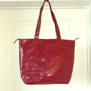 Kenneth Cole Reaction red tote